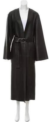Hermes Long Leather Coat