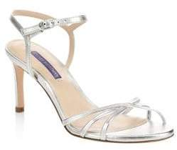 Stuart Weitzman Starla Metallic Leather Slingback Sandals