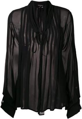 Ann Demeulemeester pintucked chiffon blouse