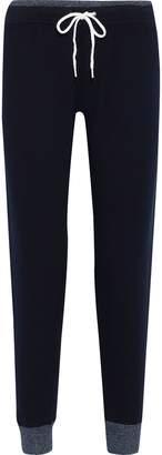 Monrow Cropped Fleece Thermal Track Pants