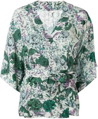 Dagmar floral wrap blouse