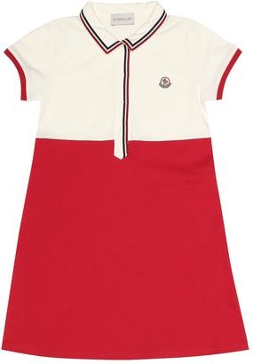 Moncler Enfant Stretch cotton pique dress