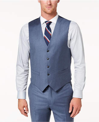 Tommy Hilfiger Men's Modern-Fit Th Flex Stretch Blue/Gray Twill Suit Vest