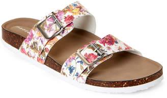Madden-Girl White Flower Brando Slide Sandals