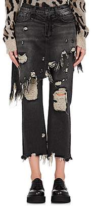 R 13 Women's Double Classic Crop Jeans