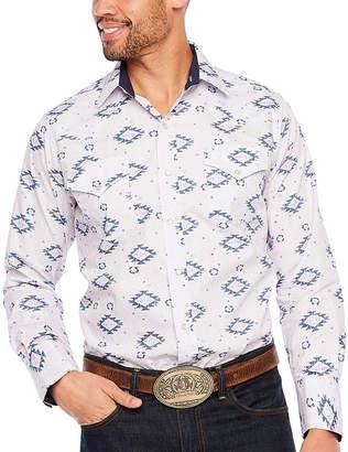 Ely Cattleman Cotton Aztec Print LS Shirt