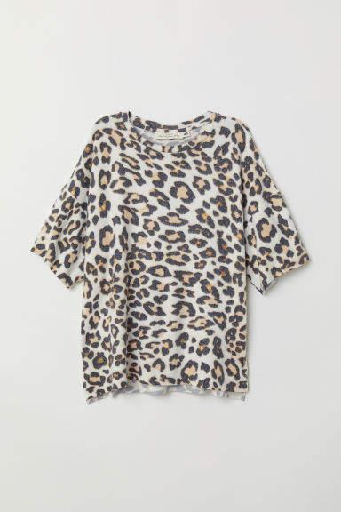 H&M - Fine-knit T-shirt - Beige