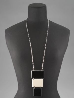Geometric Colorblock Necklace