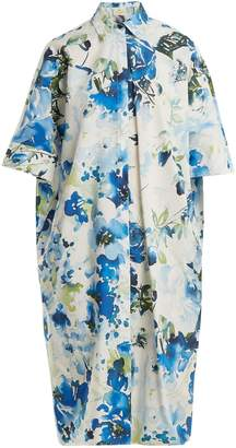BY. BONNIE YOUNG Floral-print cotton and silk-blend shirtdress