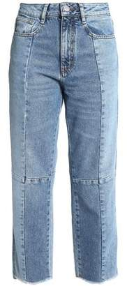 Maje Faded High-Rise Straight-Leg Jeans