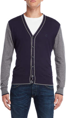 Armani Jeans Navy & Grey Knit Cardigan