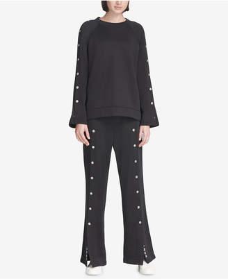 DKNY Sport Snap Wide-Leg Pants