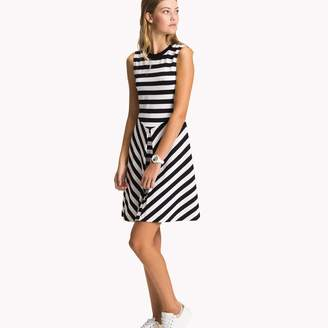 Tommy Hilfiger Fit and Flare Stripe Dress
