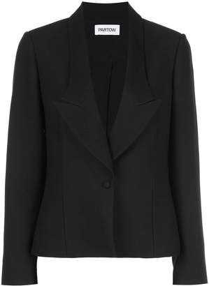 PARTOW notched lapel one button blazer