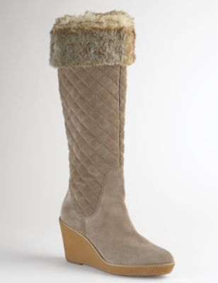 Kathryn Quilted Fur Trim Boot