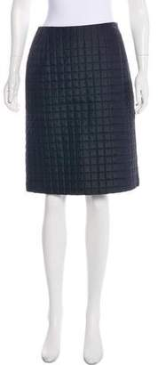 Akris Quilted A-Line Skirt