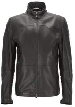 HUGO BOSS Lamb Leather Jacket Joulon XXL Black