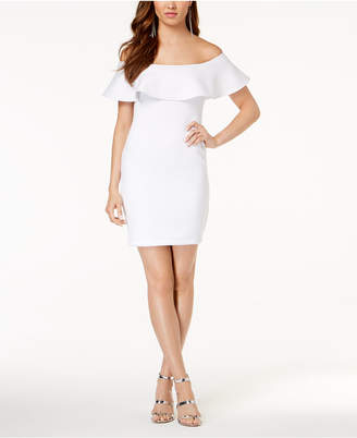 GUESS Off-The-Shoulder Bodycon Dress