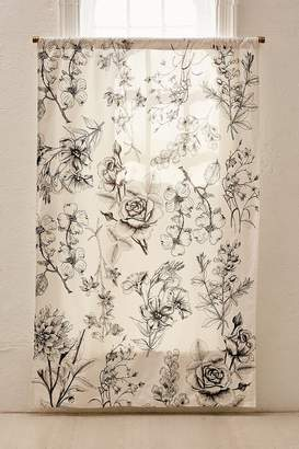 Makenna Etched Floral Blackout Window Curtain