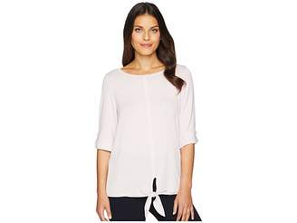 Jones New York Top with Roll Tab Sleeve Women's Clothing
