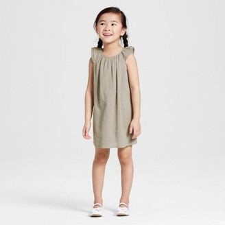 Victoria Beckham for Target Toddler Girls' Sage Green Cap Sleeve Glitter Dot Peasant Dress $20 thestylecure.com