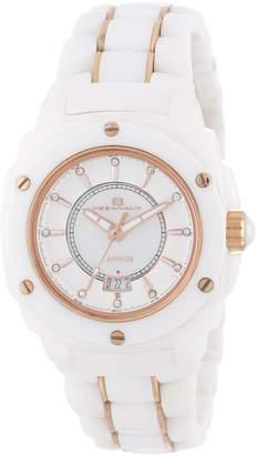 Oceanaut Women's Fashion CS1C2646 Ceramic Collection White Dial Quartz Analog Watch