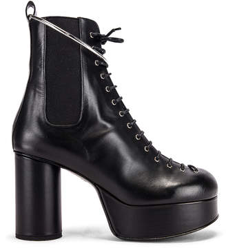 Jil Sander Lace Up Ankle Boots in Black | FWRD
