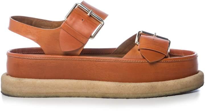 STELLA MCCARTNEY Submerge faux-leather flatform sandals