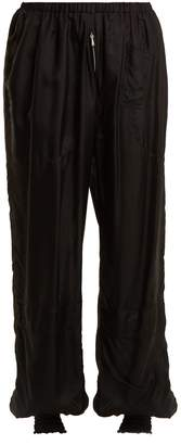 Katharine Hamnett Archive high-rise elasticated silk trousers