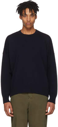 Ami Alexandre Mattiussi Navy Oversized Sweater