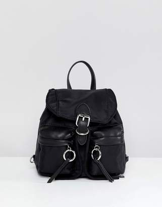 Aldo Mini Nyon Backpack With Ring Pull Detail