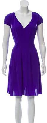 Nina Ricci Cap Sleeve Knee-Length Dress