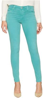 Hudson Nico Mid-Rise Ankle Super Skinny in Dusted Jade Women's Jeans