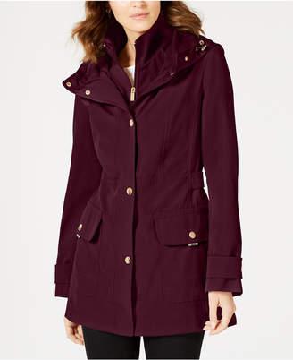 Jones New York Water Resistant Hooded Raincoat