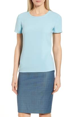 BOSS Ilyna Crepe Short Sleeve Top