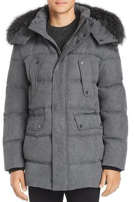 Andrew Marc Belmont Fox Fur Trim Quilted Parka