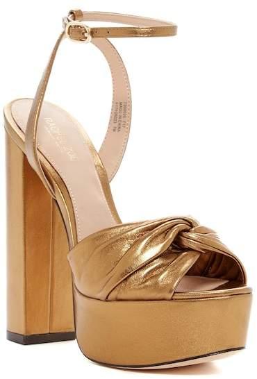 Rachel Zoe Claudette Metallic Leather Platform Sandal