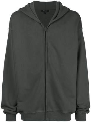 Yeezy oversized zip front hoodie