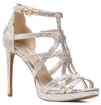 66aacfbd9ab3 ... MICHAEL Michael Kors Women s Sandra Strappy Leather Platform High-Heel  Sandals