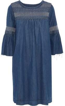 Current/Elliott The Abigail Embroidered Denim Dress