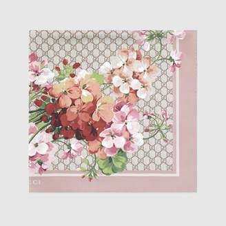 Gucci GG Blooms print silk scarf