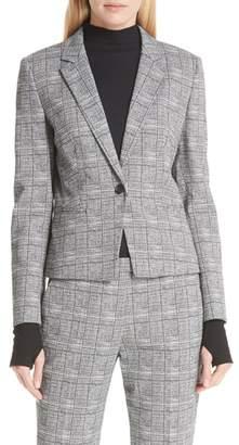HUGO Asima Bold Check Suit Jacket