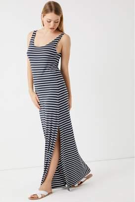 Vila Womens Striped Maxi Dress - Blue