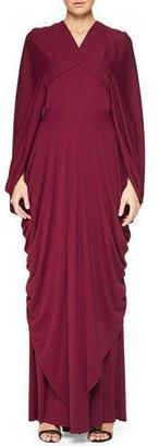 Zac Posen Draped Cape-Sleeve Open-Back Gown $3,490 thestylecure.com