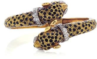 Vintage Fred Joaillerie 18K Gold Panther Bracelet