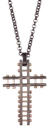 Steve Madden Cross Rolo Chain Necklace