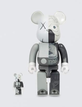 Medicom Toy 2010 KAWS OriginalFake Companion 400% + 100% Bearbrick