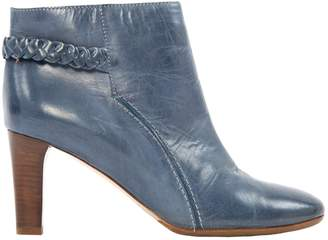 Chloé Blue Leather Ankle boots
