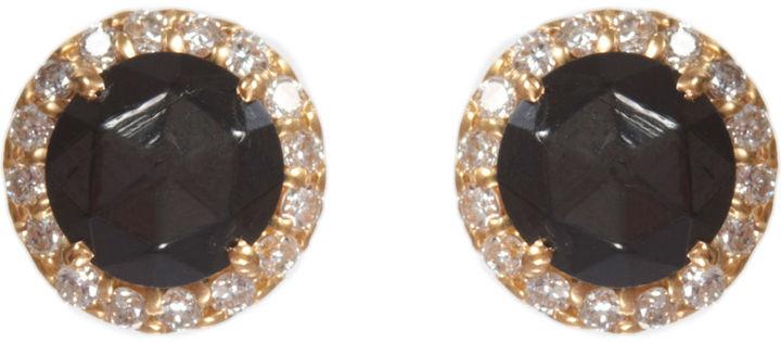 Jamie Wolf Pave Diamond & Black Star Stud Earrings