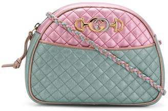 Gucci metallic colour-block clutch bag